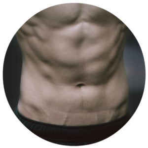 man's abdominal muscles - fitness articles