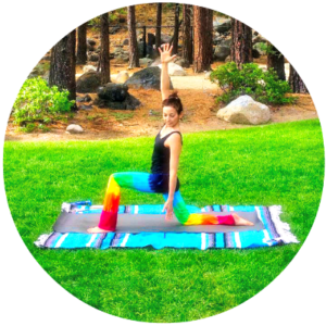 woman in a yoga pilates pose